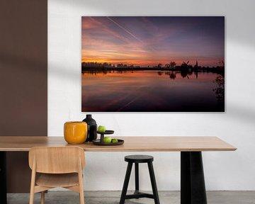 Zonsondergang Linge van Jochem van der Blom