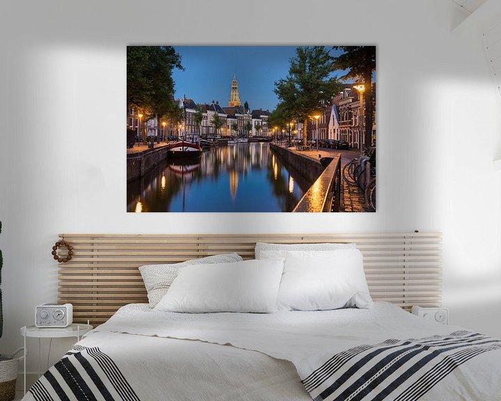 Sfeerimpressie: Hoge en Lage der Aa begin van de avond van Iconisch Groningen