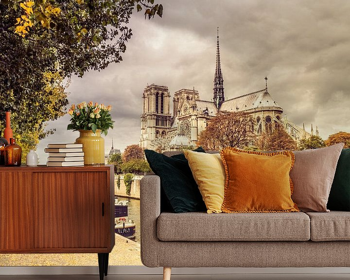 Sfeerimpressie behang: Paris Notre Dame van davis davis
