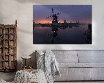 Molens, Kinderdijk, Windmills, Kinderdijk, Moulins de Kinderdijk,Kinderdijk Windmühlen. van Ron Westbroek