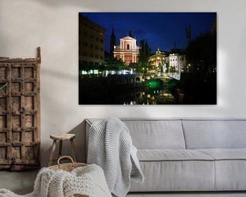 Ljubljana bei Nacht von Yvonne Smits