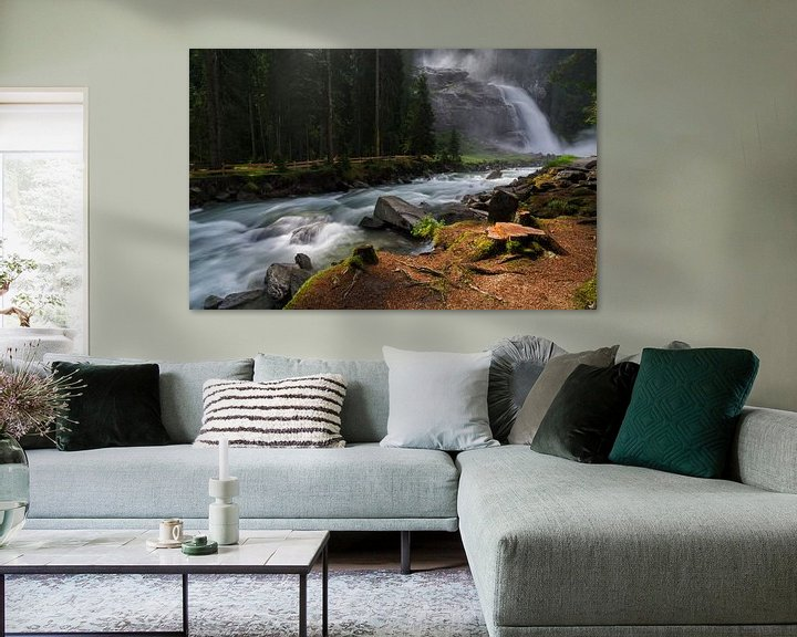 Sfeerimpressie: Krimmler Wasserfalle van Jos Pannekoek