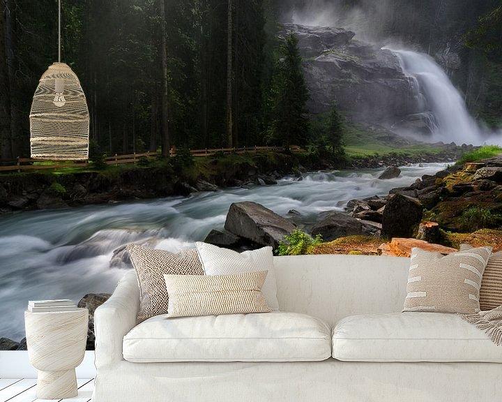 Sfeerimpressie behang: Krimmler Wasserfalle van Jos Pannekoek