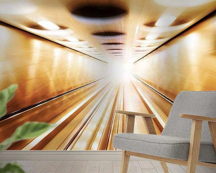 Impression: Tunnel van licht sur Dennis van de Water