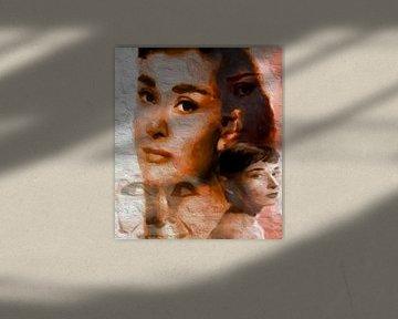 Audrey Dreamscape Audrey Hepburn Audrey Hepburn Pop Art von Leah Devora
