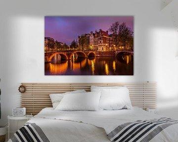 Night in Amsterdam van Marc Smits