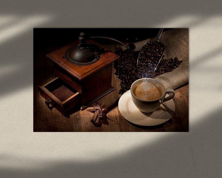 Sfeerimpressie: Sfeervolle plaat van koffie  van Henny Brouwers