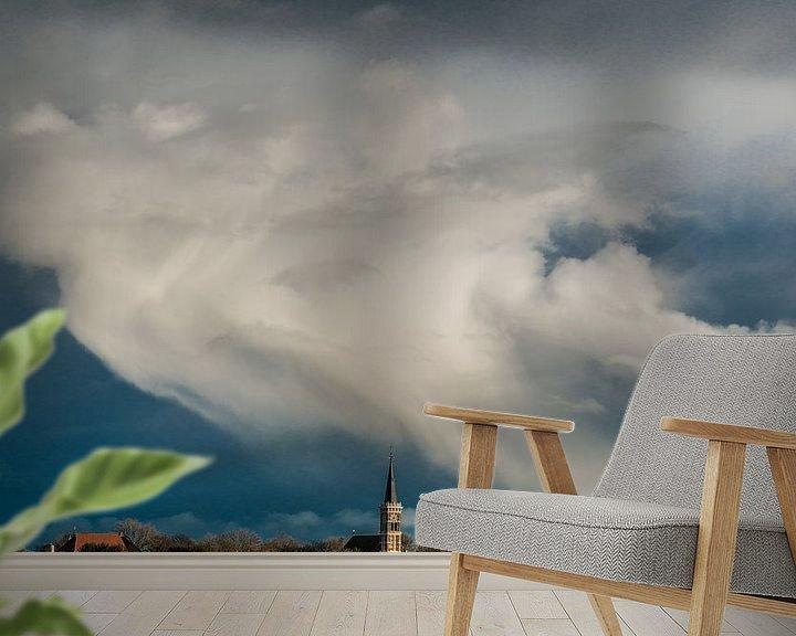 Sfeerimpressie behang: Zicht op Cornwerd van Harrie Muis
