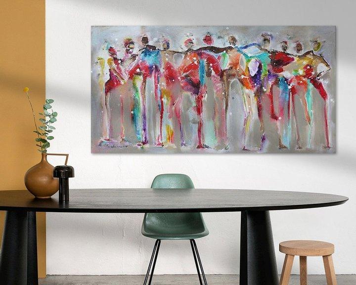 Beispiel: Connected people red von Atelier Paint-Ing
