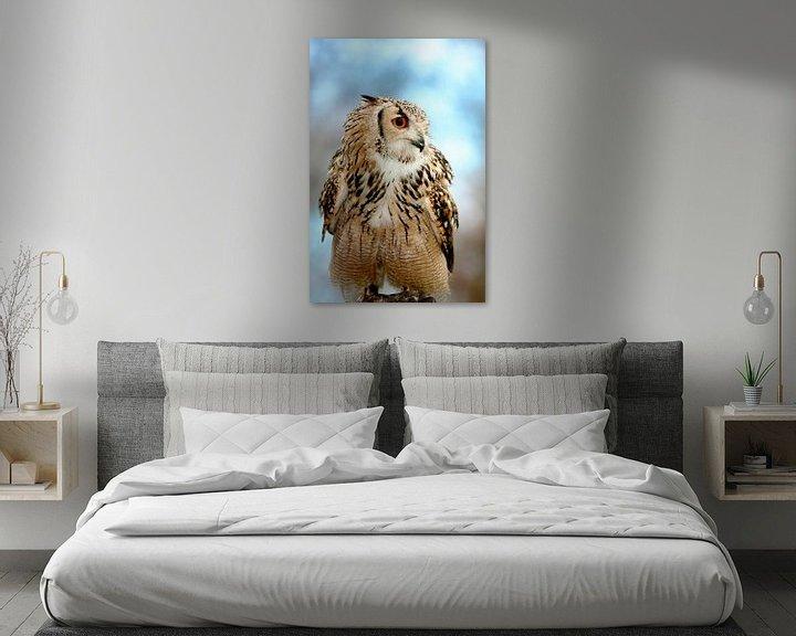 Impression: Eagle owl sitting sur Jan Brons