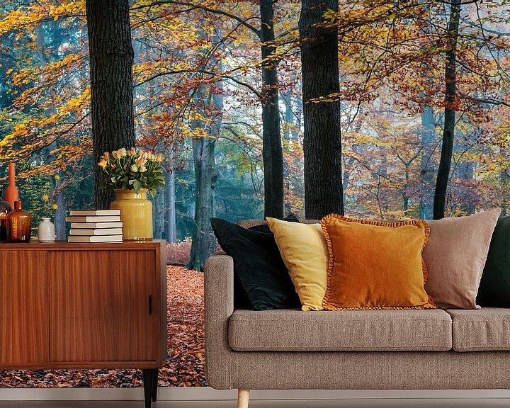 Sfeerimpressie behang: Autumn Trees van William Mevissen
