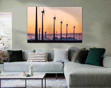 Windturbines en industrie Eemshaven von Jurjen Veerman