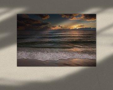 Zonsondergang op het strand in Naples Beach in Florida sur Michèle Huge
