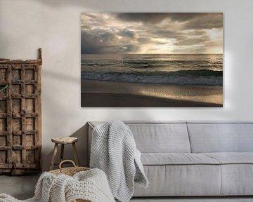 Zonsondergang in Naples Beach, Florida sur Michèle Huge