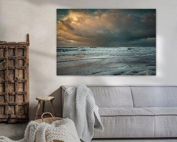 Seelandschaft mit Wolken von eric van der eijk