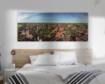 panorama foto van De Rijp uit de lucht van Contrast inBeeld