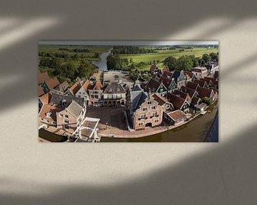 Panorama van De Rijp met het oude Raadhuis