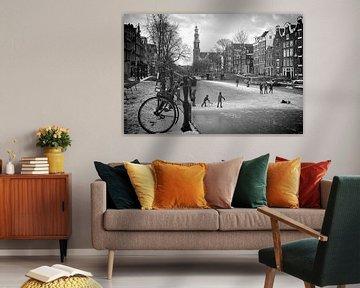 Amsterdam Prinsengracht winter van Marianna Pobedimova