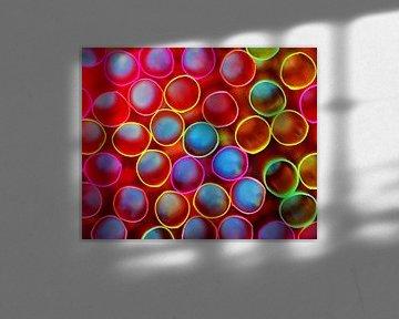 Pailles (pailles de limonade colorées) sur Caroline Lichthart