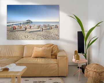 Bij Timmendorfer Beach van Ursula Reins
