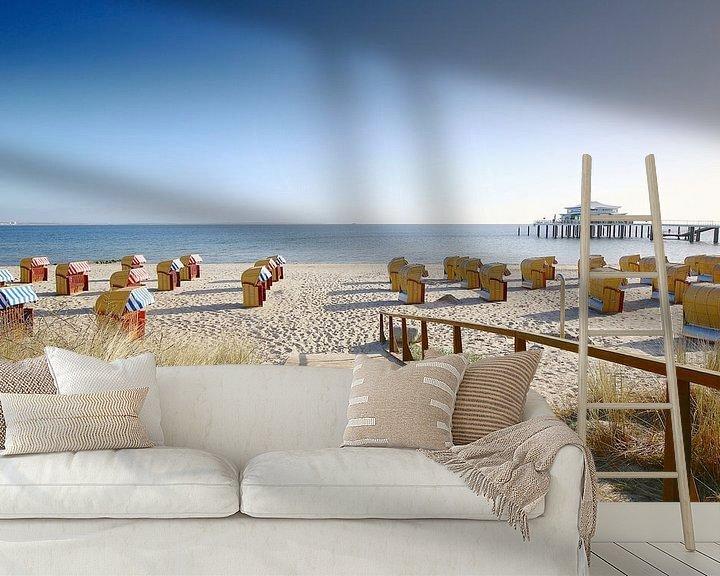 Sfeerimpressie behang: Oostzee vakantie op Timmendorfer Strand van Ursula Reins