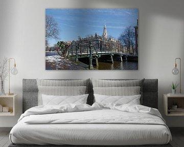Zuiderkerk vanaf de Kloveniersburgwal - Amsterdam van Jack Koning