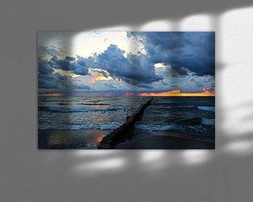 zonsondergang over de Baltische van Ursula Reins