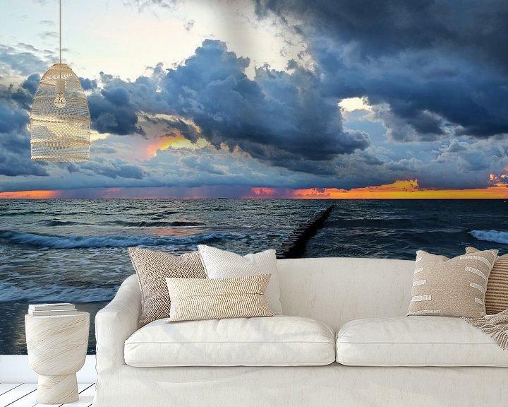 Beispiel fototapete: Sonnenuntergang  über der Ostsee von Ursula Reins
