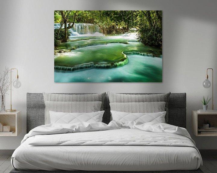 Impression: Kuang Si watervallen, Luang Prabang, Laos sur Giovanni della Primavera