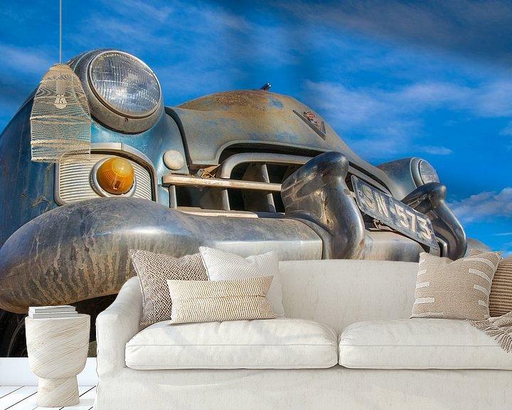 Sfeerimpressie behang: Gestrande oldtimer, Cadillac van Rietje Bulthuis