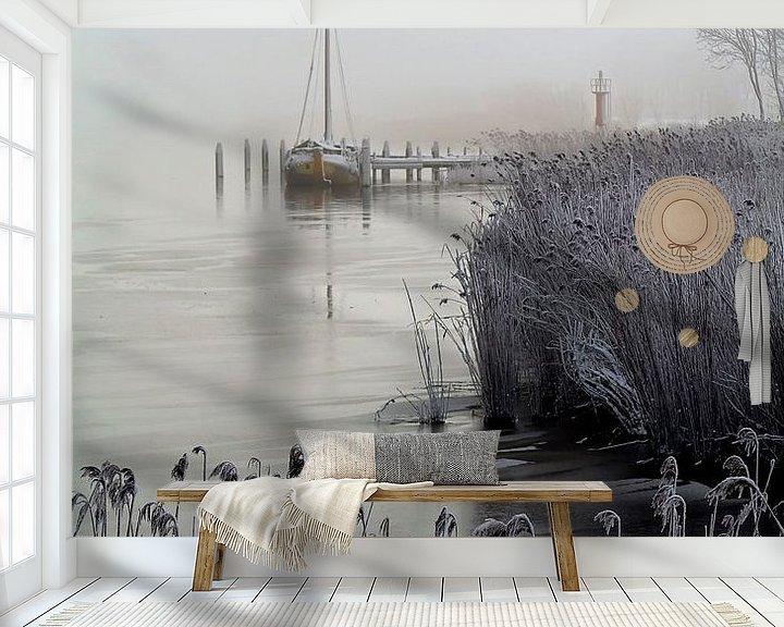 Sfeerimpressie behang: Winter Zoutkamp, Nederland van Peter Bolman