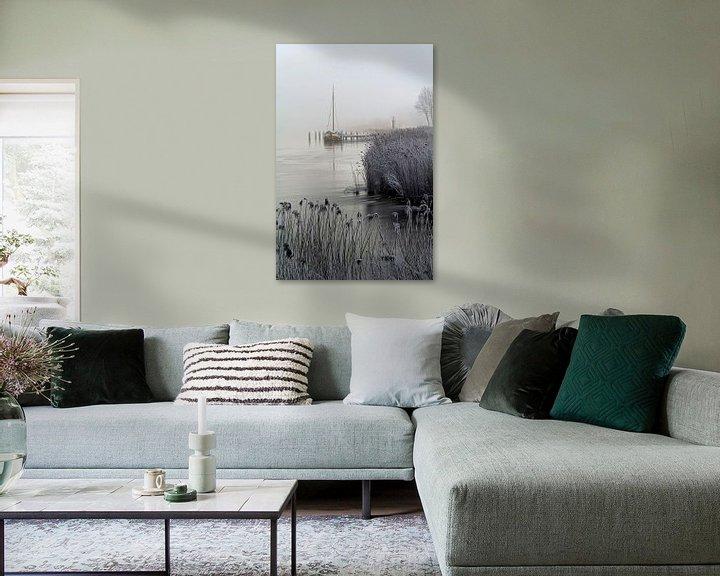 Sfeerimpressie: Winter Zoutkamp, Nederland van Peter Bolman