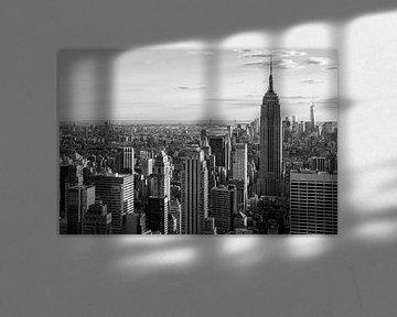 Uitzicht van Manhattan in zwart en wit  van Thea.Photo