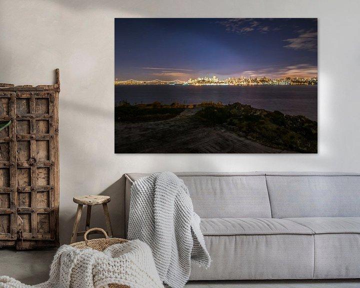Beispiel: Night fall San Fransisico von Ton Kool