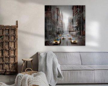 City-Art NYC 5th Avenue Verkeer van Melanie Viola