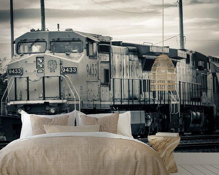 Sfeerimpressie behang: American train van Nannie van der Wal