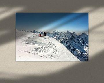 Op de top van Ama Dablam van Thea.Photo