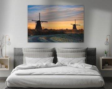 Molens van Kinderdijk, Nederland van Peter Bolman