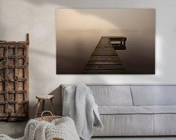 Une jetée dans le brouillard, Pays-Bas sur Peter Bolman