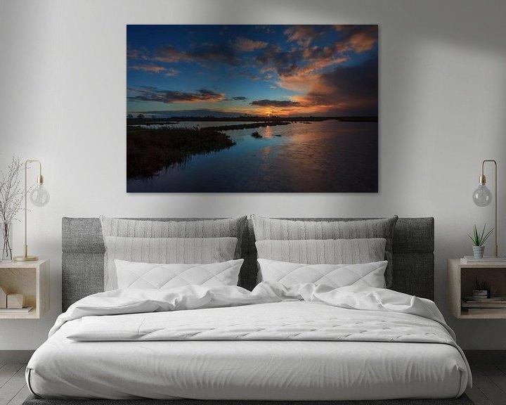 Sfeerimpressie: Sunset at the Onlanden van Wil de Boer