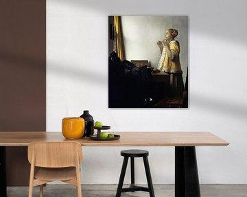 Junge Dame mit Perlenhalsband, Johannes Vermeer
