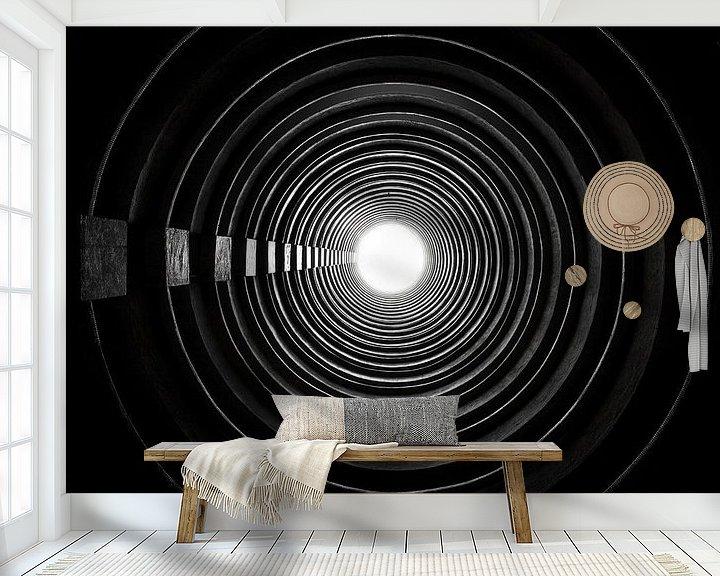 Sfeerimpressie behang: Lai Tak Tsuen - Hong Kong van Ivo de Bruijn