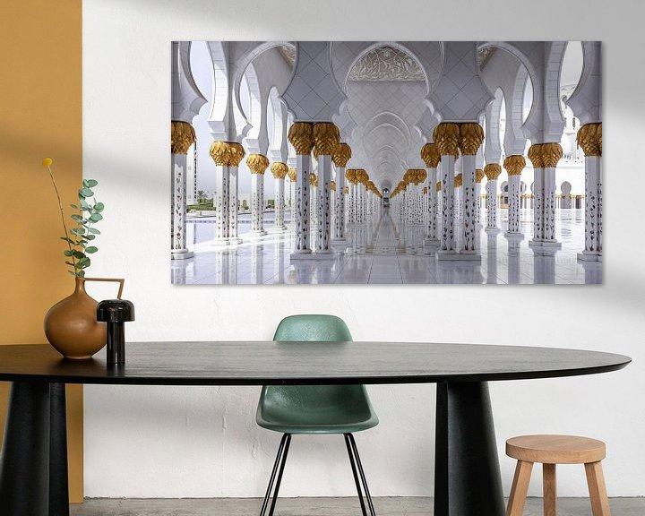 Sfeerimpressie: Sjeik Zayed-moskee - Abu Dhabi van Ivo de Bruijn