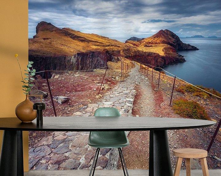 Sfeerimpressie behang: Fine line (Ponta de São Lourenço / Madeira / Portugal) van Dirk Wiemer