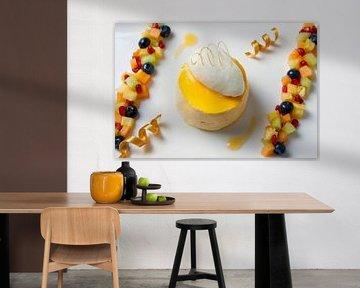 Fris dessert van mango en fruit