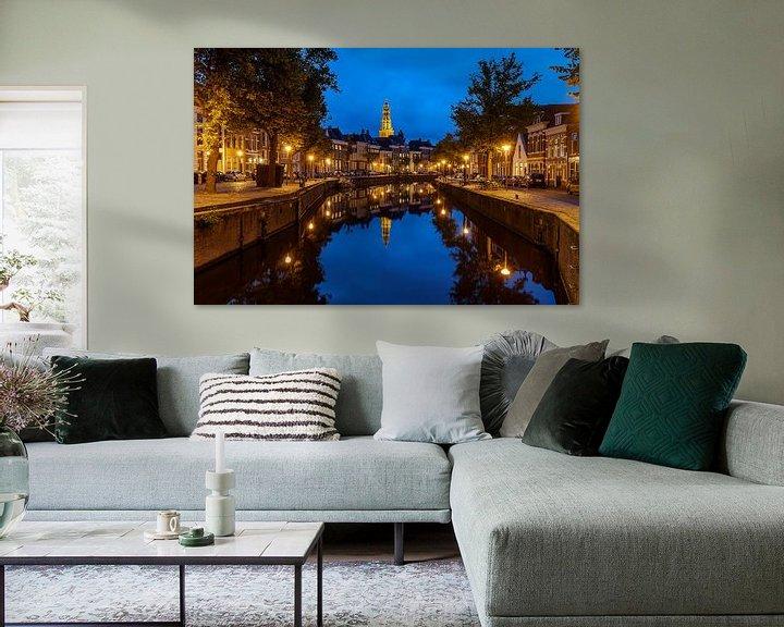 Sfeerimpressie: Groningen Aa-kerk @ blue hour van Koos de Wit