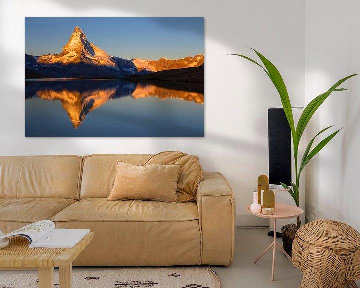 Beispiel: Magische Sonnenaufgang auf das Matterhorn von Menno Boermans