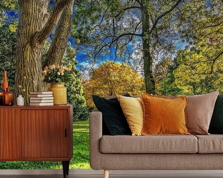 Sfeerimpressie behang: Herfst in het Rengerspark van Harrie Muis