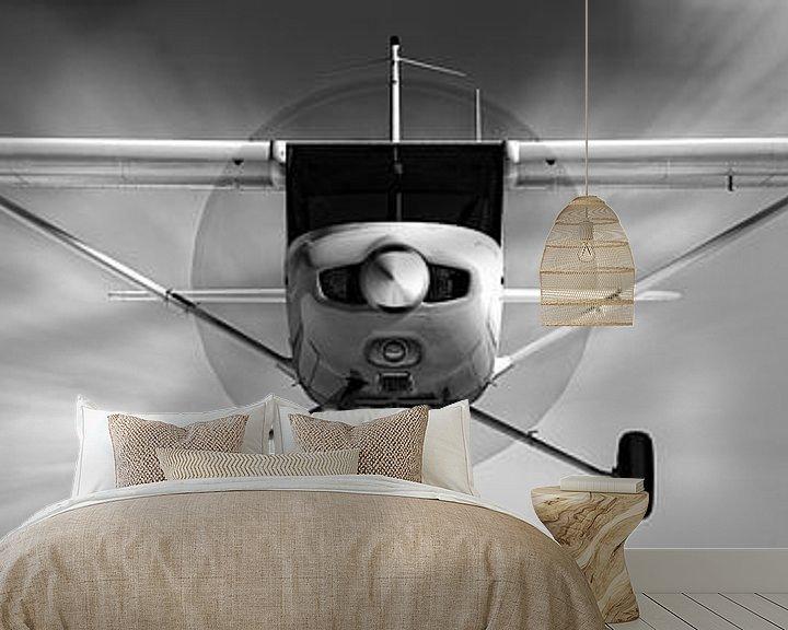 Beispiel fototapete: Cessna 152 naderend von Jan Brons