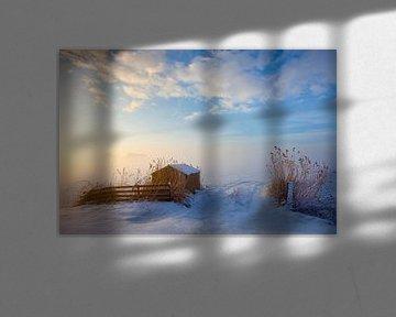 Winterlandschap Nederland van Peter Bolman